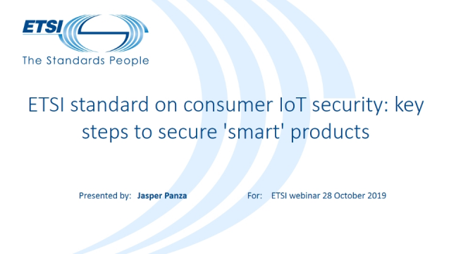ETSI standard on consumer IoT security: key steps to secure 'smart' products
