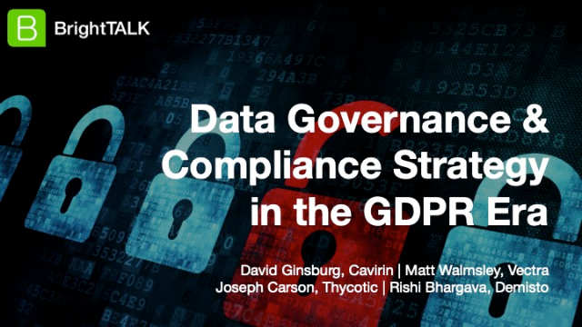 [PANEL] Data Governance & Compliance Strategy in the GDPR Era