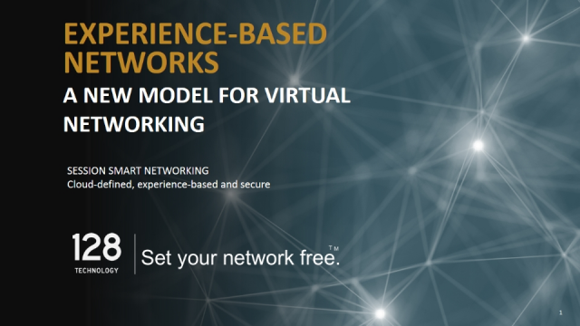 Experience-based networks, a new model for virtual networking