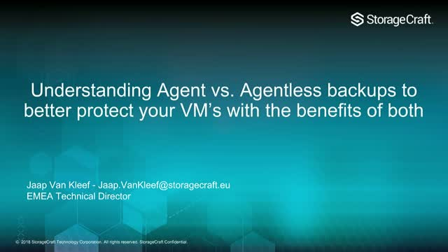 Understanding Agent vs. Agentless Backups To Better Protect Your VMs