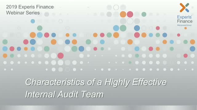 Characteristics of a High Performing Internal Audit Team