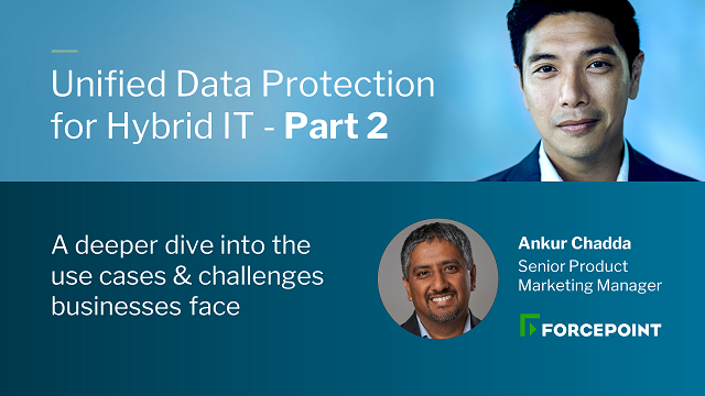Unified Data Protection: Part 2