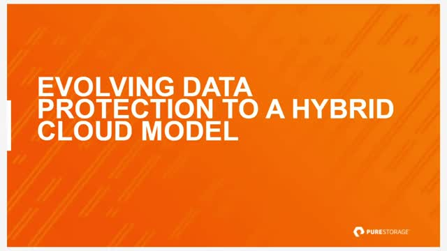 Evolving Data Protection to a Hybrid Cloud Model
