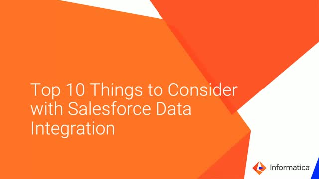 Top 10 Things to Consider with Salesforce Data and App Integration