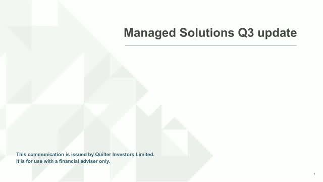Q3 2019 Managed Solutions update
