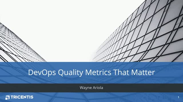 Forrester Research: DevOps Quality Metrics That Matter