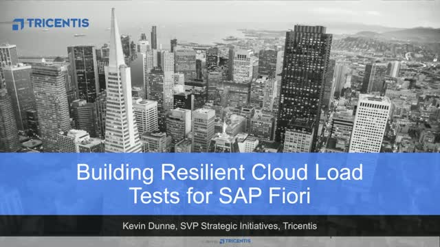 Building Resilient Cloud Load Tests for SAP Fiori