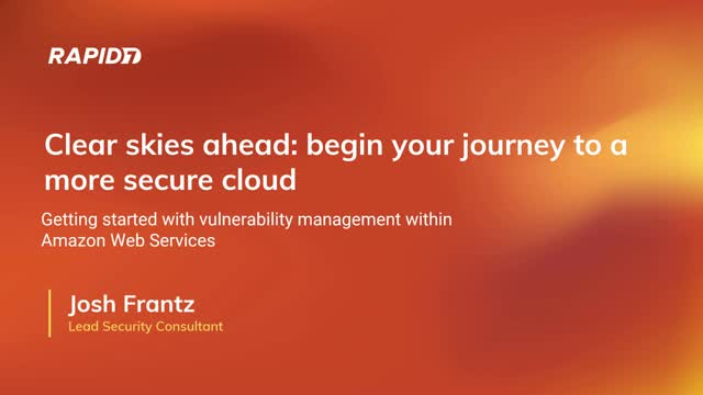 Shoot for the Cloud...? Getting Started with Security in AWS.