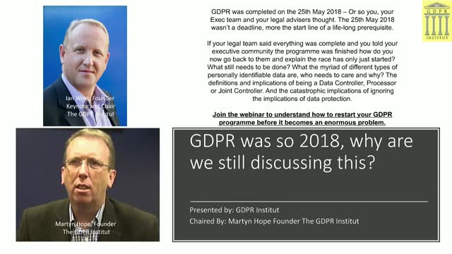GDPR was so 2018, why are we still discussing this along with Brexit?