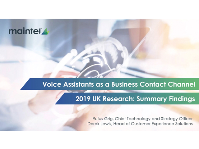 The Role of Voice Assistants as a Business Contact Channel