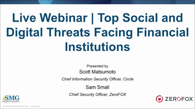 Top Social and Digital Threats Facing Financial Institutions