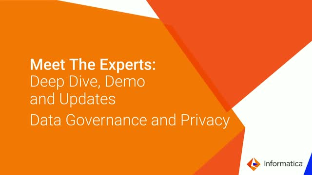 Meet the Experts – Deep Dive, Demo and Updates for Data Governance and Privacy