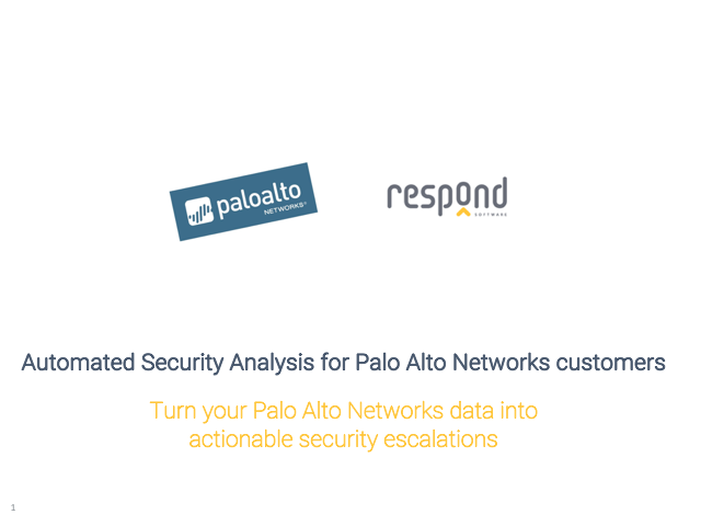 Automated Security Analysis for Palo Alto Networks customers
