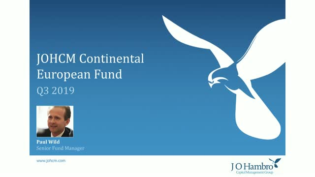 JOHCM Continental European Fund Q3 19 Update