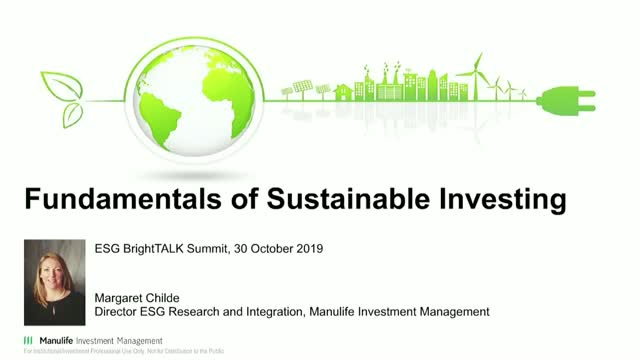 Fundamentals of Sustainable Investing