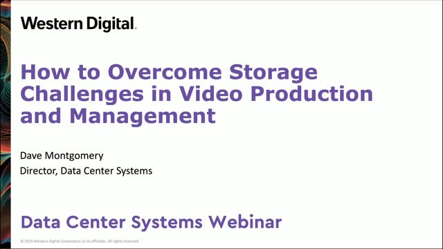 Overcome Storage Performance Challenges in Video Production and Management