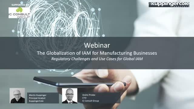 The Globalization of IAM for Manufacturing Businesses