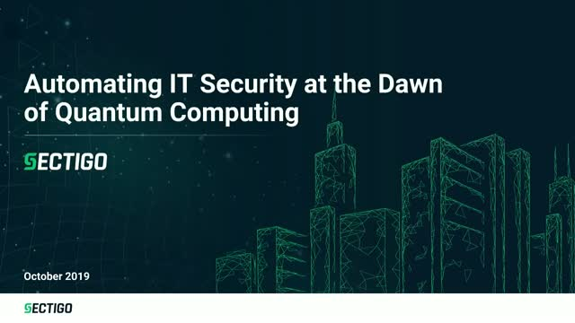 Automating IT Security at the Dawn of Quantum Computing