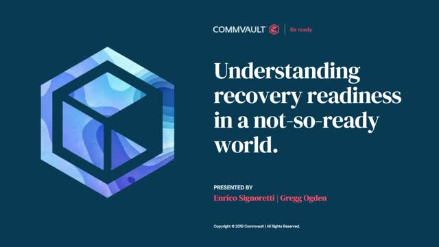 Understanding recovery readiness in a not-so-ready world