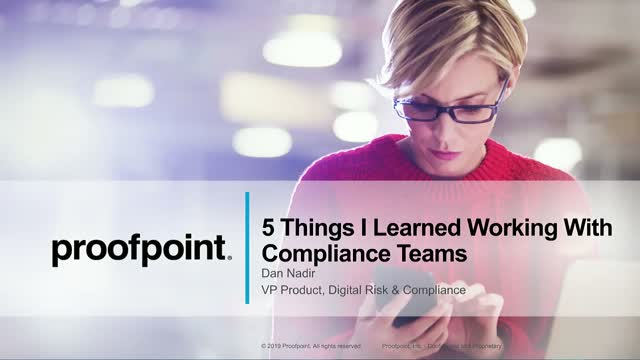 Top 5 Lessons I Learned Working with Compliance