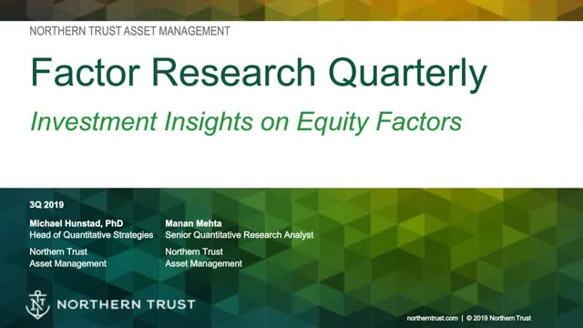Factor Research Quarterly: Recalibrating Factor Portfolios for Volatility