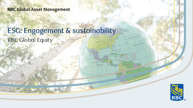 RBC Global Equity ESG: Engagement & sustainability