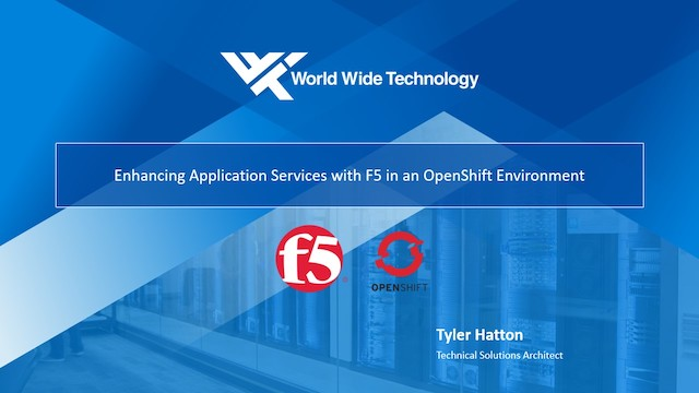 Application Ingress Automation with F5 and Red Hat OpenShift