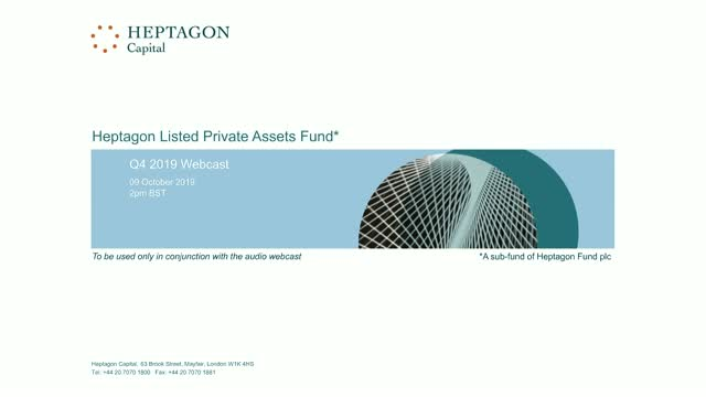 Heptagon Listed Private Assets Fund Q3 2019 Webcast