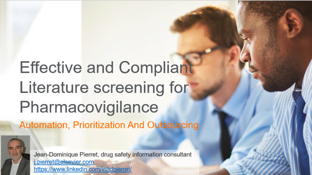 Effective and Compliant Literature screening for Pharmacovigilance