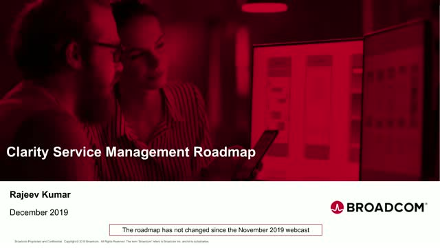 Clarity SM Roadmap Session - December (EMEA/APJ)