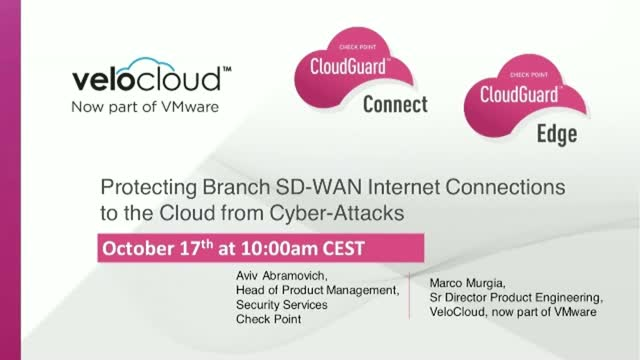 Protecting Branch SD-WAN Internet Connections to the Cloud from Cyber-Attacks