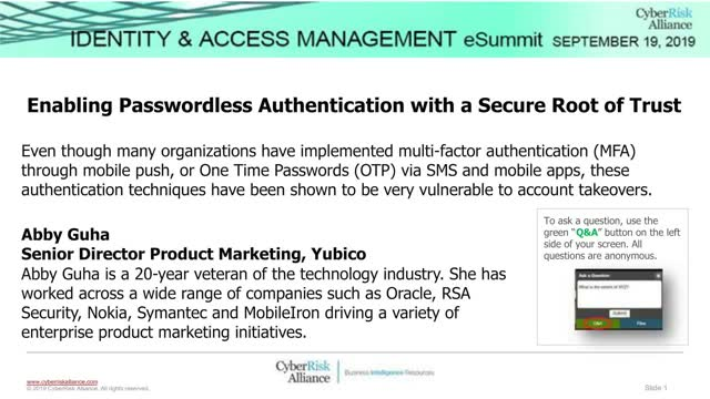 Enabling Passwordless Authentication with a Secure Root of Trust
