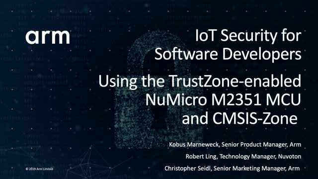 IoT Security for Software Developers: NuMicro M2351 with TrustZone & CMSIS-Zone