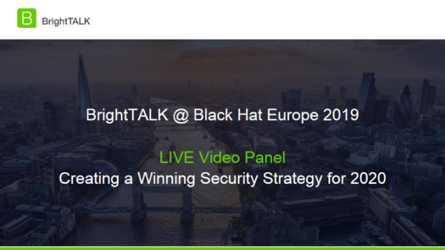 Live Video Panel - Creating a Winning Security Strategy for 2020
