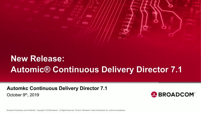 New Release: Automic® Continuous Delivery Director 7.1