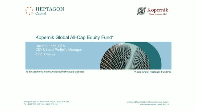 Kopernik Global All-Cap Equity Fund Q3 2019 Webcast