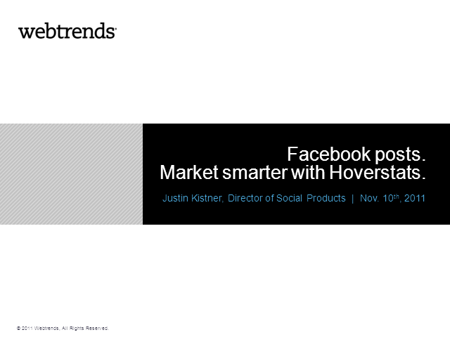 Facebook posts. Market smarter with Hoverstats.