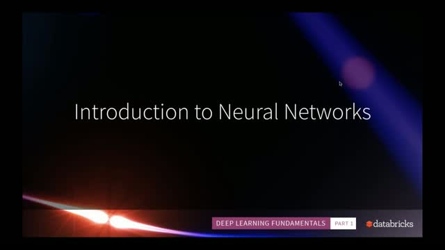 Deep Learning Fundamentals: Introduction to Neural Networks