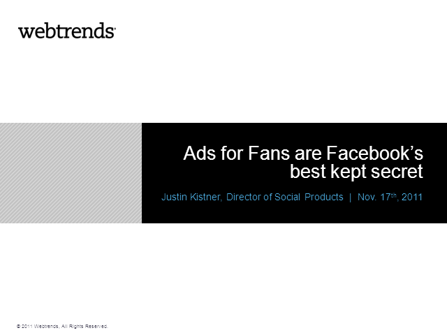 Ads for Fans are Facebook's best kept secret