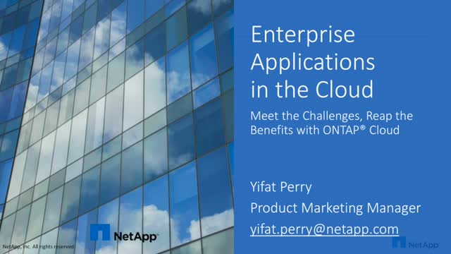 Enterprise Applications in the Cloud: Meet the Challenges, Reap the Benefits