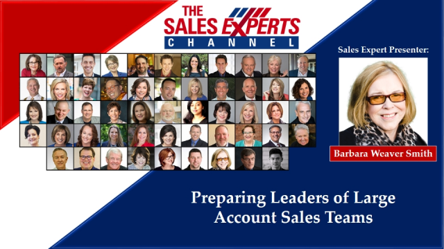 Preparing Leaders of Large Account Sales Teams