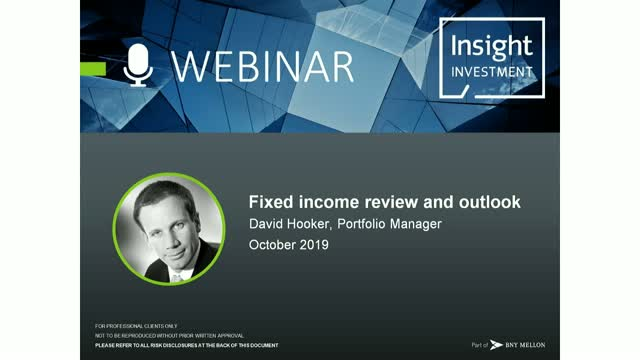 Fixed income review and outlook | October 2019