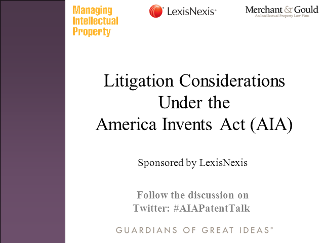 Litigation strategies after the America Invents Act