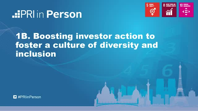 PIP19 - Boosting investor action to foster a culture of diversity and inclusion