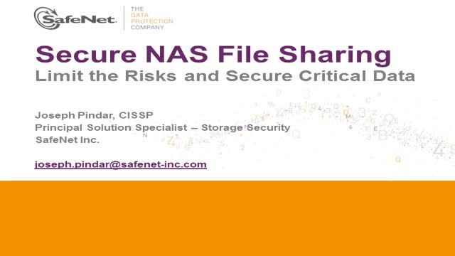 Secure NAS file sharing – limit the risks and secure the critical data
