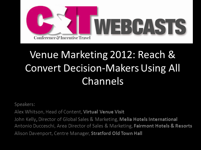 Venue Marketing 2012: Cash In On The Games Using All Channels