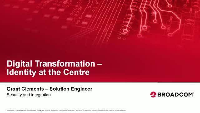 Digital Transformation - Identity at the Centre