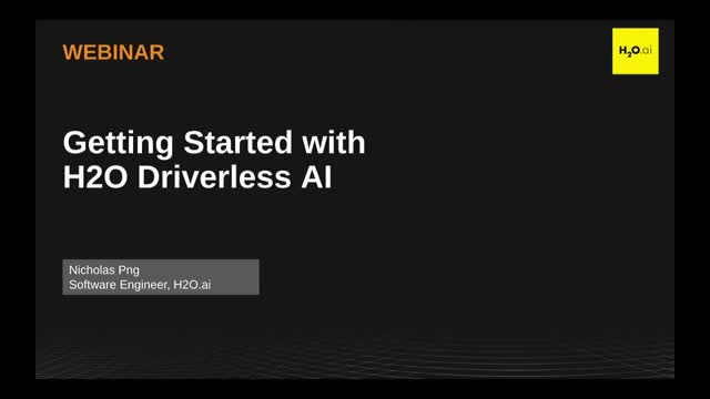 Getting Started with H2O Driverless AI