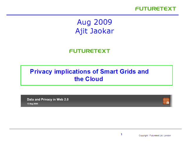 Privacy Implications of Smart Grids and the Cloud