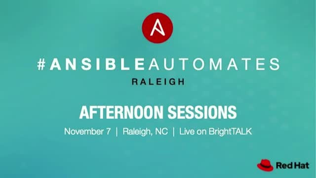 Ansible Automates - Afternoon Sessions